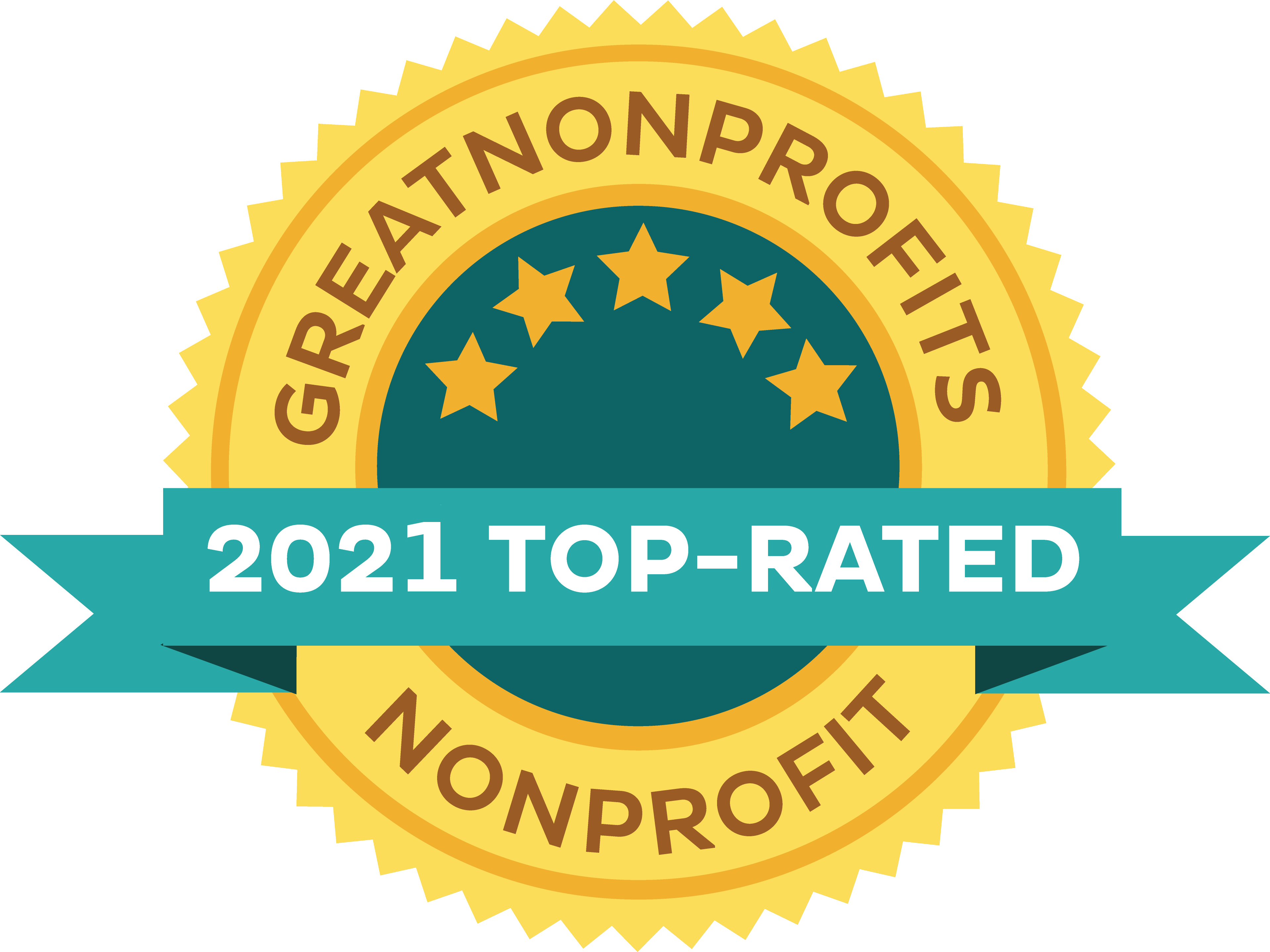 2021 Top Rated Awards Badge from Great Nonprofits